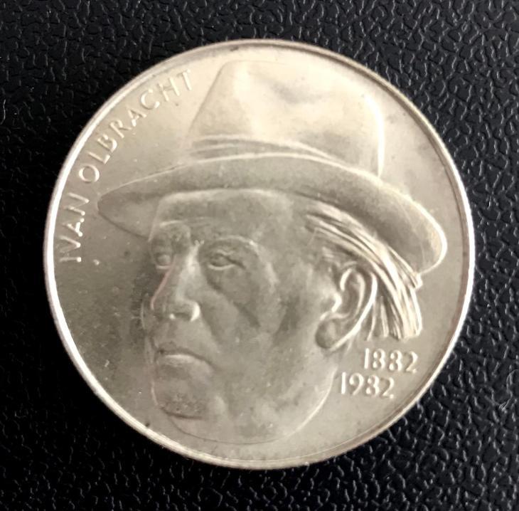 vzácná stříbrná mince 100 Kčs 1982 Ivan Olbracht, perfektní stav! - Numismatika