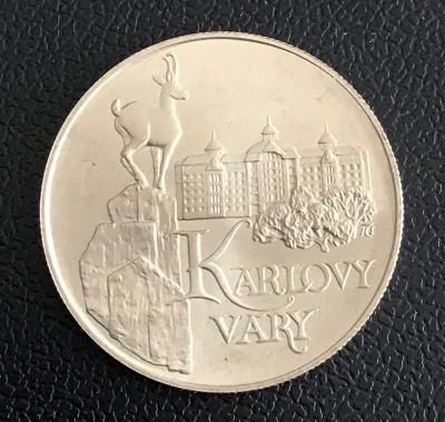 Vzácná Stříbrná mince 50 Kčs Karlovy Vary 1991,Perfektní stav!
