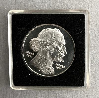 R!Stříbrná mince100 Kčs PROOF 1971-100. výročí Josefa Mánesa,4.529ks