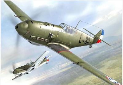 AZ Model AZ7688 Bf 109E-3 -  letectvo 1935-1945 v měřítku 1/72.