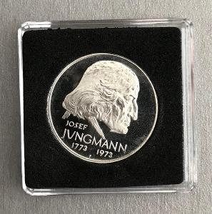 R!Stříbrná mince 50Kčs PROOF 1973 - JOSEF JUNGMANN,Perfektní stav