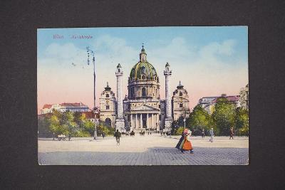 Pohlednice Vídeň Karlskorche