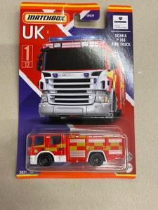 Matchbox UK SCANIA P360 FIRE TRUCK Hasič