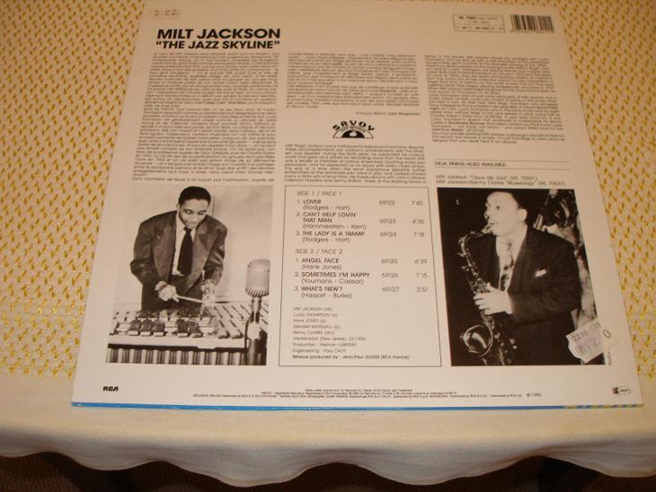 "1 LP 12"" ST Milt Jackson ""The Jazz Skyline"" (2.22.) - Hudba"