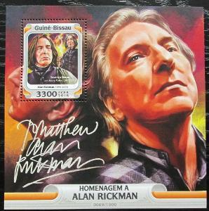 Guinea-Bissau 2016 Alan Rickman, herec Mi# Block 1471 Kat 12.50€ 2468