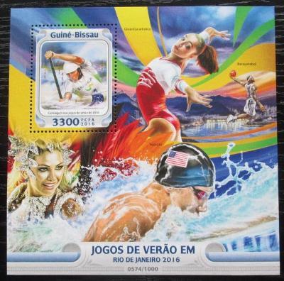 Guinea-Bissau 2016 LOH Rio de Janeiro Mi# Block 1472 Kat 12.50€ 2468
