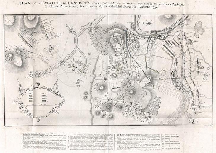 Lovosice bitva 1756, mědiryt, 1789 - Antikvariát