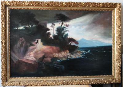 Rudolf Franz - Podvečer u moře - Olej
