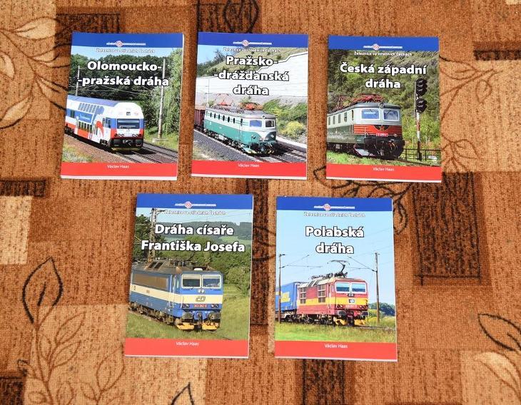 ŽELEZNICE SBÍRKA 5kusů knih, 2016 - 2020, NEPRODEJNÉ LIMITOVANÝ TISK ! - Knihy