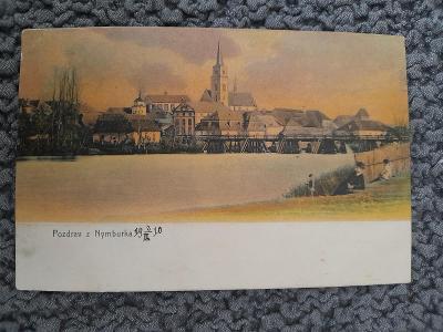 Stará pohlednice NYMBURK 1910,prošlá