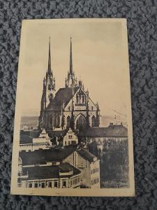 Stará pohlednice, Brno- Petrov,prošlá