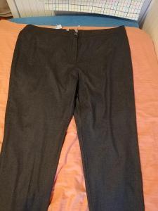 FLAME-Dámské teplé, elegantní kalhoty v šedé barvě, XXL.