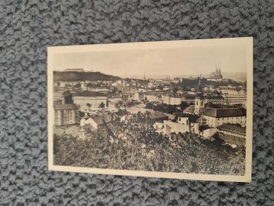 Stará pohlednice, Brno- celkový pohled, prošlá