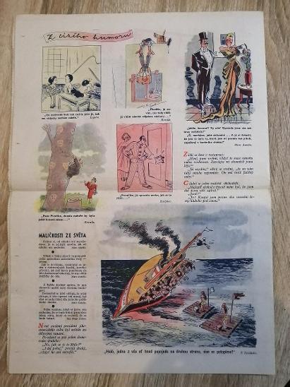 NOVINY - KVÍTKO - PRVNÍ JARNÍ VÝLET - ročník 12 číslo 19 rok 1938 - Antikvariát