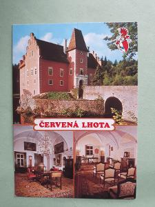 Zámek Červená Lhota IV - pohlednice VF