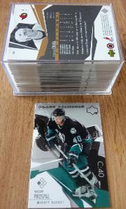Kompletní set karet UD black diamond 2003/2004 (84 karet)
