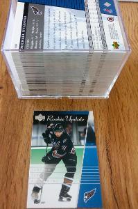 Kompletní set karet UD rookie update 2002/2003 (100 karet)