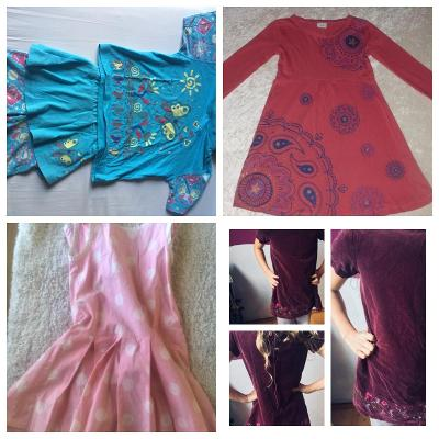 Šaty, set oblečení, tričko, kraťasy 116/122, 4 - 6 let