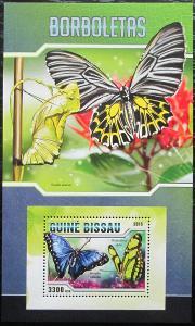 Guinea-Bissau 2016 Motýli Mi# Block 1488 Kat 12.50€ 2472