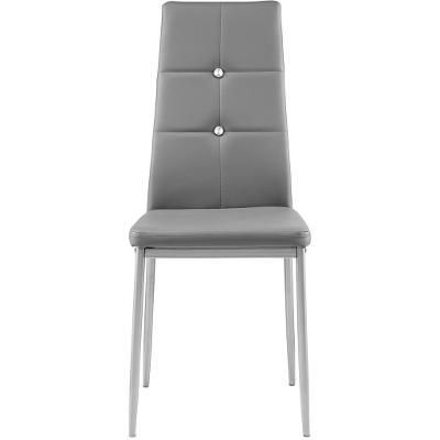 tectake 402542 6 jídelních židlí, ozdobné kamínky - šedá