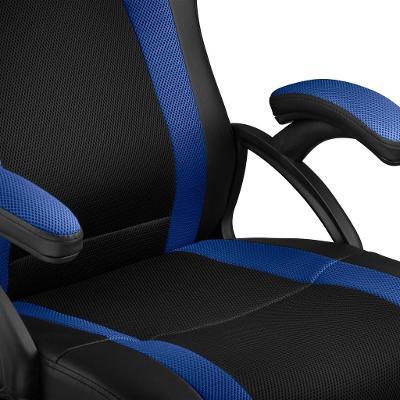 tectake 403491 kancelářská židle goodman - černá/modrá