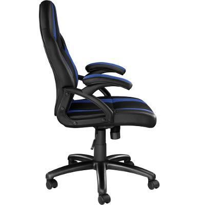 tectake 403480 kancelářská židle benny - černá/modrá
