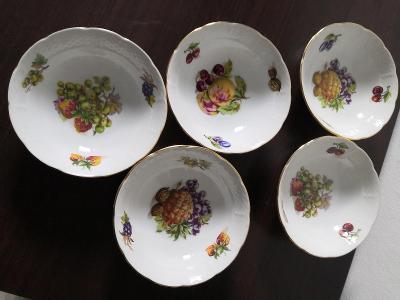 krasne porcelanove misky s ovocem-retro