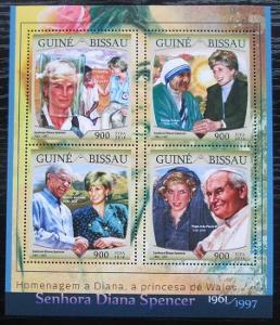 Guinea-Bissau 2016 Princezna Diana Mi# 8669-72 Kat 13.50€ 2475
