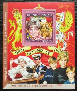 Guinea-Bissau 2016 Princezna Diana Mi# Block 1503 Kat 13.50€ 2475