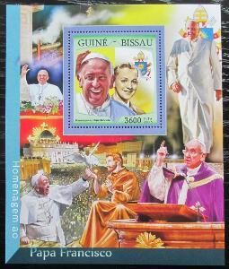 Guinea-Bissau 2016 Papež František Mi# Block 1505 Kat 13.50€ 2475