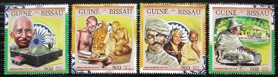 Guinea-Bissau 2016 Mahatma Gandhí Mi# 8654-57 Kat 13.50€ 2476