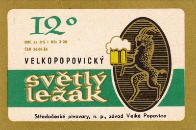 P.E. - Velké Popovice 2.20 Kčs ( jiný popis)