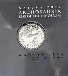 1 OZ stříbrná investiční mince NATURA - Vzestup dinosaurů 2019 - 999Ag