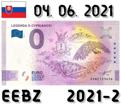 0 Euro Souvenir | LEGENDA O CYPRIÁNOVI | EEBZ | 2021