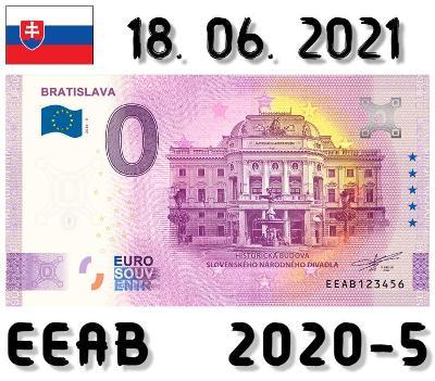 0 Euro Souvenir | BRATISLAVA Historická budova SND | EEAB | 2021