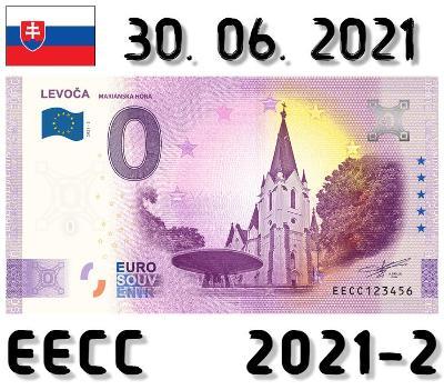 0 Euro Souvenir | LEVOČA Mariánska hora | EECC | 2021