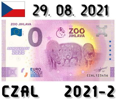 0 Euro Souvenir   ZOO JIHLAVA   CZAL   2021   ANNIVERSARY
