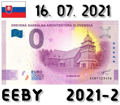 0 Euro Souvenir |DREVENÁ SAKRÁLNA ARCHITEKTÚRA Svätý Kríž | EEBY |2021