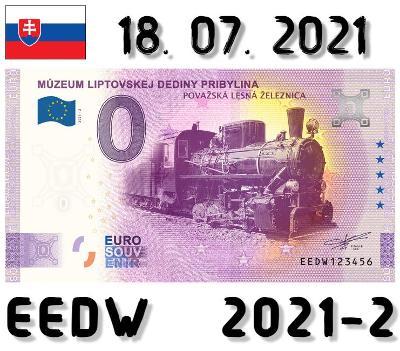0 Euro Souvenir | MÚZEUM LIPTOVSKEJ DEDINY PRIBYLINA | EEDW | 2021