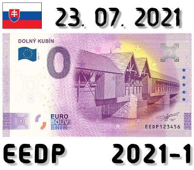 0 Euro Souvenir | DOLNÝ KUBÍN | EEDP | 2021