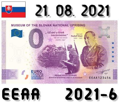 0 Euro Souvenir | MUSEUM OF THE SNP Generál Rudolf Viest | EEAA | 2021