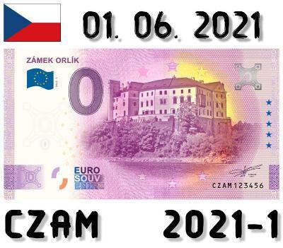 0 Euro Souvenir | ZÁMEK ORLÍK | CZAM | 2021