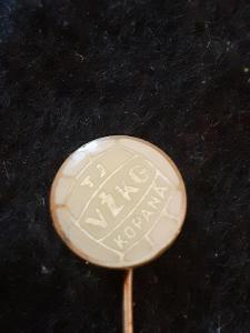 Odznak TJ VŽKG kopaná  - VÍTKOVICE, bílá varianta