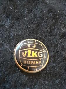 Odznak TJ VŽKG kopaná  - VÍTKOVICE, černá varianta