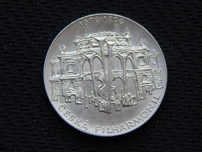 200 Kč 1996 / ČNB / česká filharmonie / stříbro / Top stav /