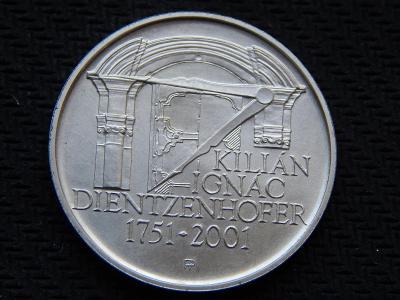 200 Kč 2001 / ČNB / K. I. Dientzenhofer / stříbro / Top stav /