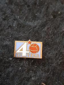 Odznak TJ VŽKG   - VÍTKOVICE, výroční 40 let - světlemodrá varianta