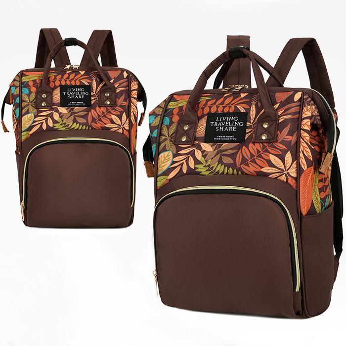Designový batoh s květinovým vzorem 3232 - Tašky, batohy, kufry