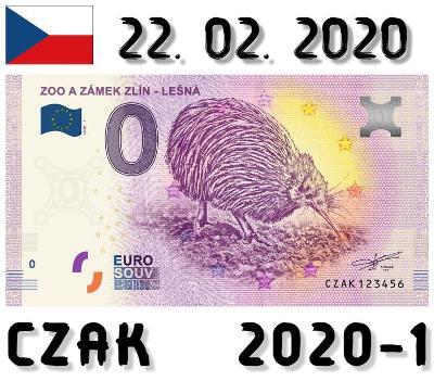 0 Euro Souvenir | ZOO A ZÁMEK ZLÍN - LEŠNÁ | CZAK | 2020
