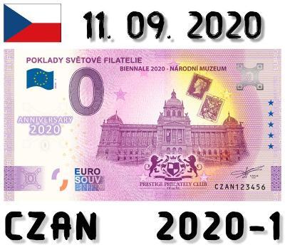 0 Euro Souvenir | POKLADY SVĚTOVÉ FILATELIE | CZAN |2020 | ANNIVERSARY